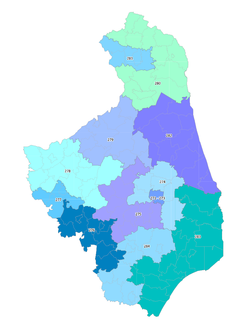 woj. podlaskie - Okręgi 271 - 284 (14 okręgów), strona 228